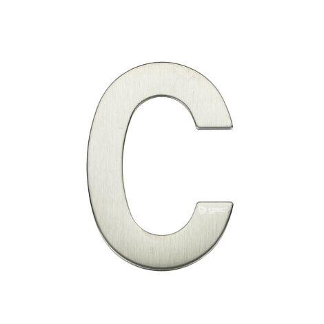 Lettre de porte C en acier inoxydable avec adhésif GSC 003302622
