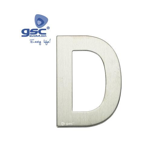 Lettre de porte D en acier inoxydable avec adhésif GSC 003302623