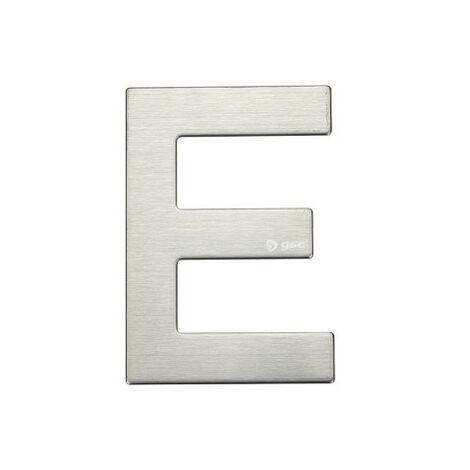 Lettre de porte E en acier inoxydable avec adhésif GSC 003302624