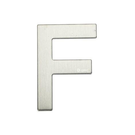 Lettre de porte F en acier inoxydable avec adhésif GSC 003302625
