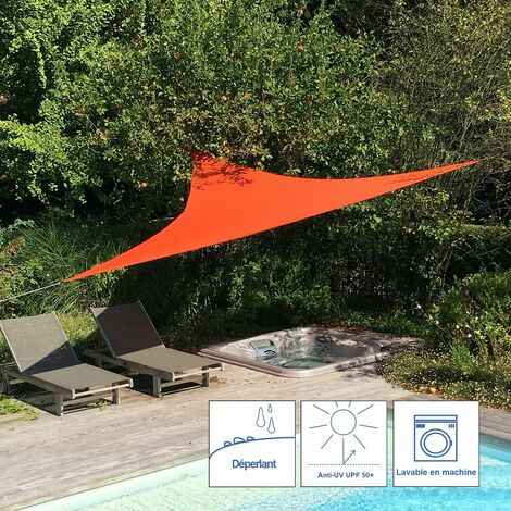 Levant shade sail - 3.6m x 3.6m x 3.6m, Colour: Terracotta