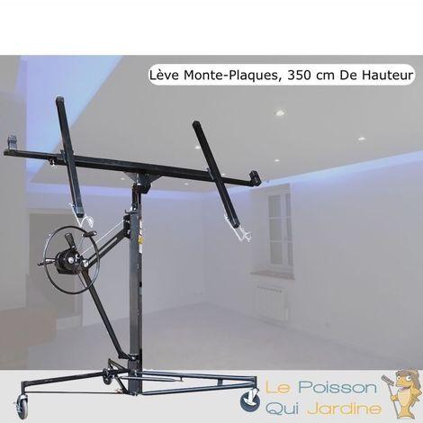 Lève - Monte Plaques, De Plàtre Ou Placo, Noir, Hauteur Max 350 cm - Noir