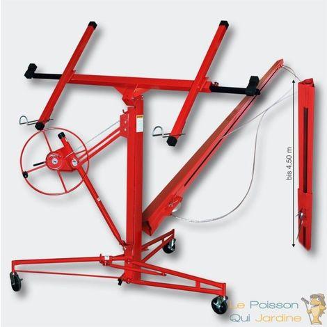 Lève - monte plaques rouge avec extensions de plàtre ou placo. Hauteur max 350 cm - Rouge