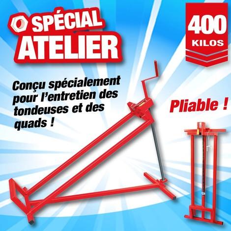 """main image of """"Lève tondeuse - lève quad - capacité 400 KG"""""""