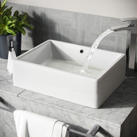 Leven 510 x 360mm Cloakroom Rectangle Stand Alone Counter Top Basin Sink