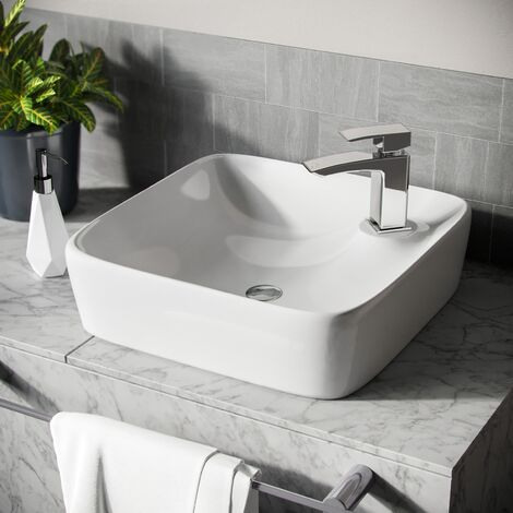 Leven Sqaure Counter Top Rounded Basin Sink
