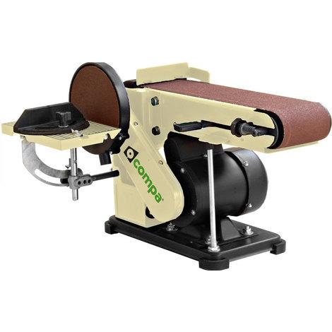 Levigatrice nastro 100x914mm+disco 150mm piano 190x125mm 375W.