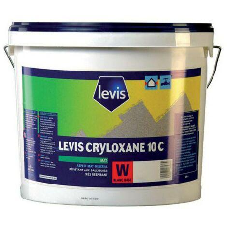 Levis Cryloxane 10C peinture hydrofuge murs extérieurs blanc