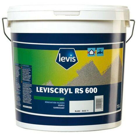 Levis peinture mate Leviscryl RS600 blanc 15L | Finition: Mat - Couleur: Blanc