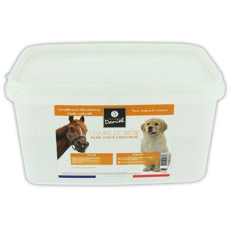 Levure de biere pour chiens chats chevaux furets - Seau de 2.5Kg LesRecettesdeDaniel