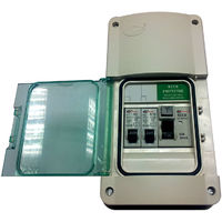 Lewden E - Garage Consumer Unit Fuse Box with RCD + 2 MCB's Weatherproof