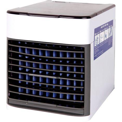 LEX Mini Klimaanlage Ventilator 3 in 1 kühlt befeuchtet reinigt USB-Anschluss