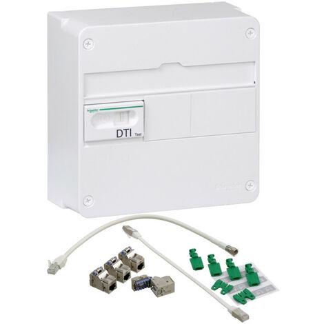 LexCom Home - coffret communication grade 2TV - 4xRJ45 cat6 ext à 8 - 13M1R (VDIR390006)