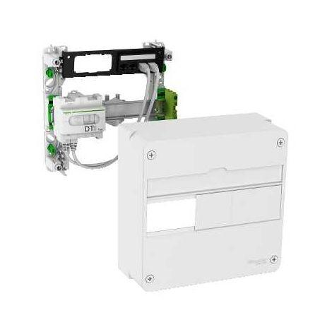 Lexcom home - coffret de communication eco-pack - grade 1 - 4 rj45 - 1 rang