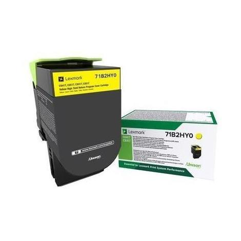 LEXMARK Cartouche d'encre jaune - Longue durée et programme de retour - Compatible CS/CX 417. 517