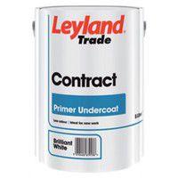 Leyland Contract Primer Undercoat - Pure Brilliant White - 5 Litres