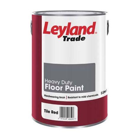 Leyland Heavy Duty Floor Paint Tile Red - 5 Litres