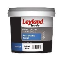 Leyland Trade Anti - Damp Paint White- 2.5 Litres