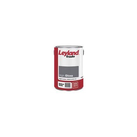 Leyland Trade High Gloss Brilliant White - 5 Litres