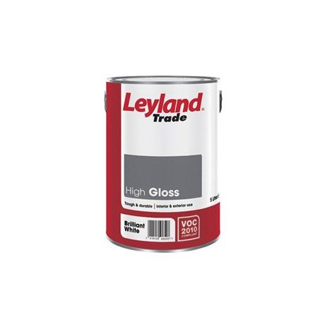 Leyland Trade High Gloss Magnolia - 5 Litres