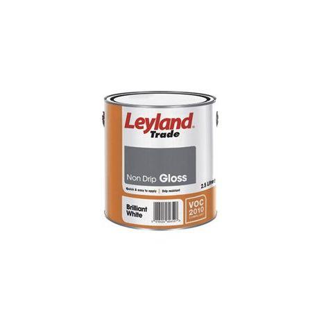 Leyland Trade Non Drip Gloss Brilliant White - 2.5 Litres