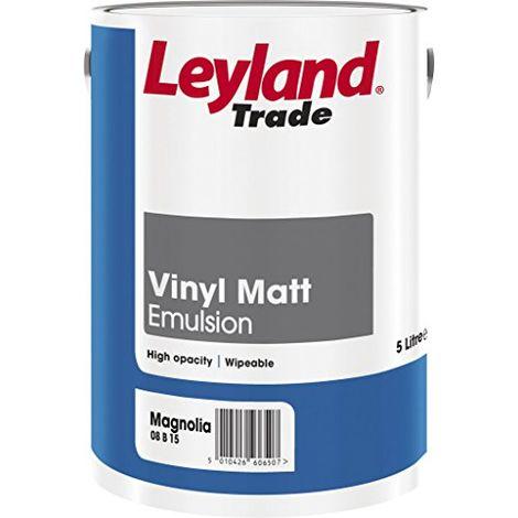 Leyland Trade Vinyl Matt Emulsion Magnolia - 5 Litres