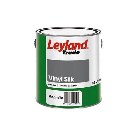 Leyland Trade Vinyl Silk - Brilliant White - 10 Litres