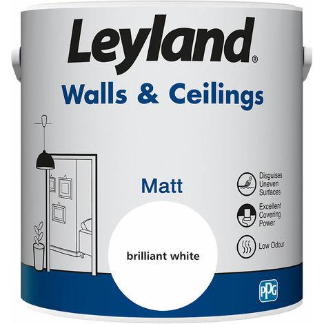 Leyland Walls & Ceilings Matt Brilliant White 2.5L