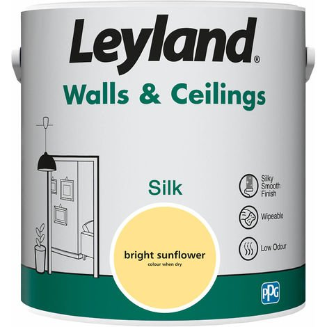 Leyland Walls & Ceilings Silk Bright Sunflower 2.5L