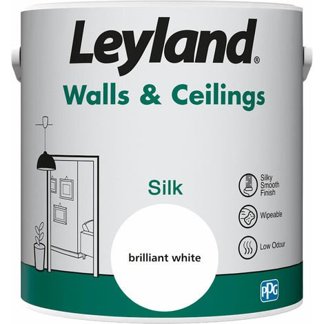 Leyland Walls & Ceilings Silk Brilliant White 2.5L