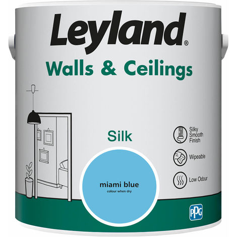 Leyland Walls & Ceilings Silk Miami Blue 2.5L