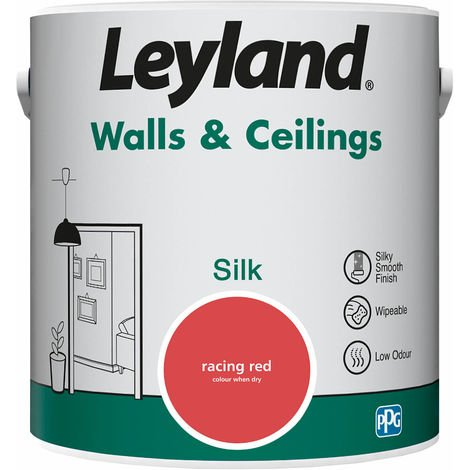 Leyland Walls & Ceilings Silk Racing Red 2.5L