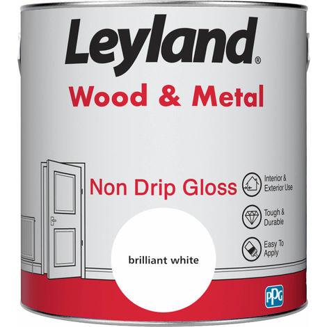 Leyland Wood & Metal Non Drip Gloss Brilliant White 2.5L