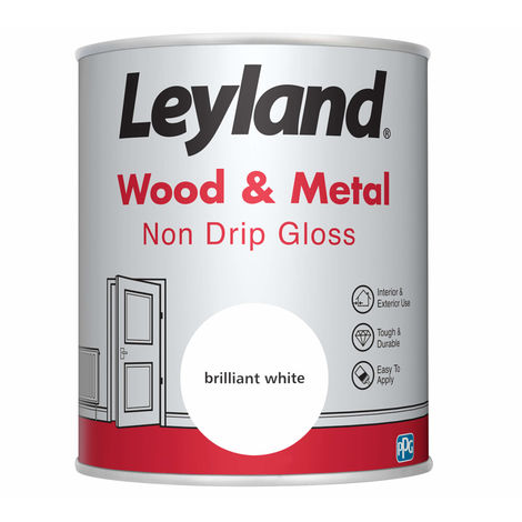 Leyland Wood & Metal Non Drip Gloss Brilliant White 750ml
