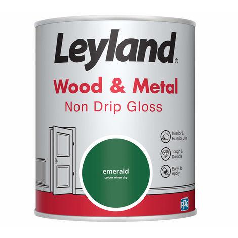 Leyland Wood & Metal Non Drip Gloss Emerald 750ml