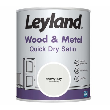 Leyland Wood & Metal Quick Dry Satin Snowy Day 750ml