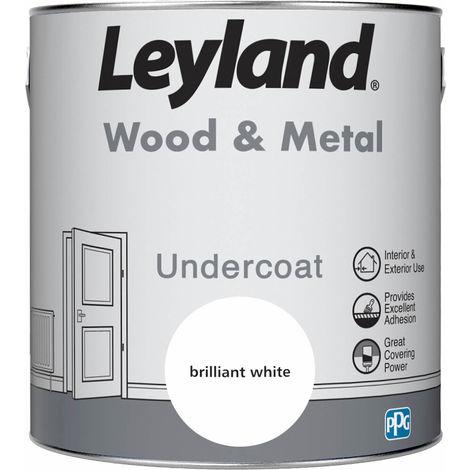 Leyland Wood & Metal Undercoat Brilliant White 2.5L