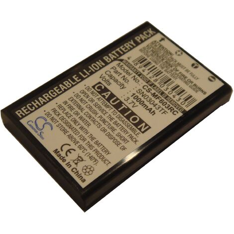 LI-ION BATTERY (1000mAh) suitable for ONE FOR ALL Xsight Touch, URC 8603 replacing SN03043TF