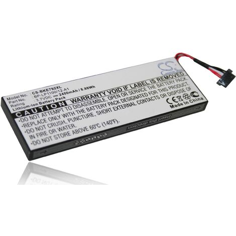 Li-Ion battery 2400mAh (3.7V) suitable for Becker BE7928 and Traffic Assist 7928. Replaces battery type: BP-LP1100/12-A1.