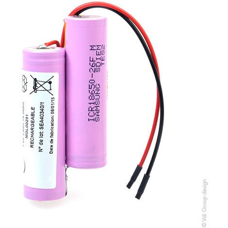 Li-ion battery 2x 18650 2S1P 7.4V 2600mAh F100