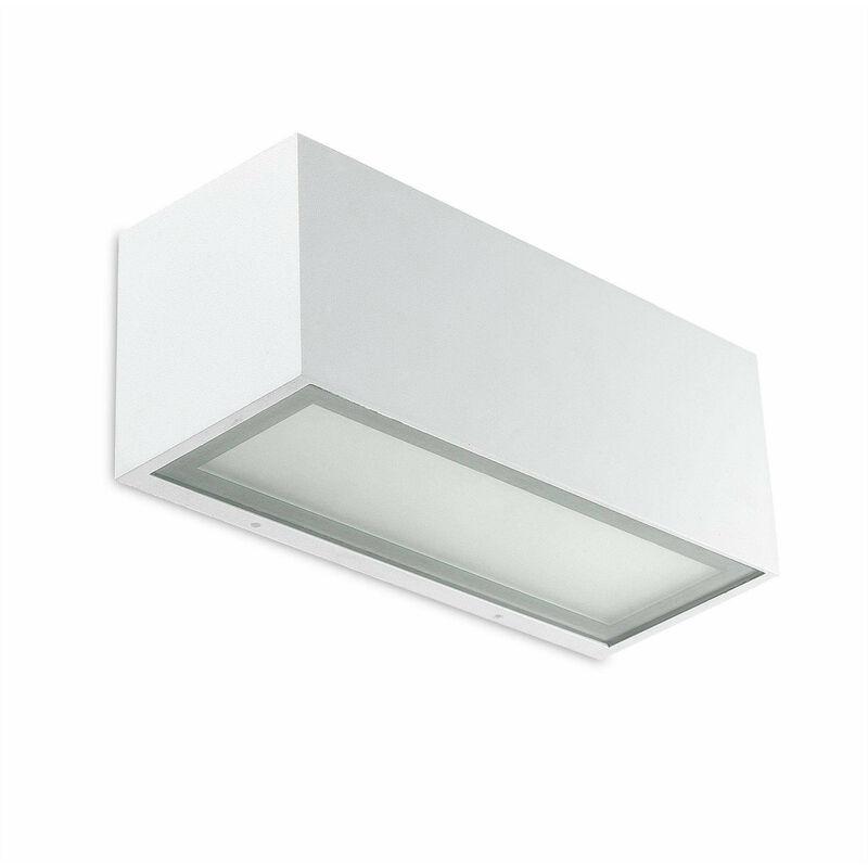 05-leds C4 - Lia Wandleuchte, weißes Aluminium und Glas