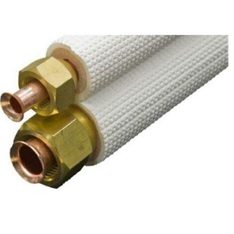 Liaison FLARE standard isolée - Diamètre : 1/4 - 3/8 - Longueur : 10 ml