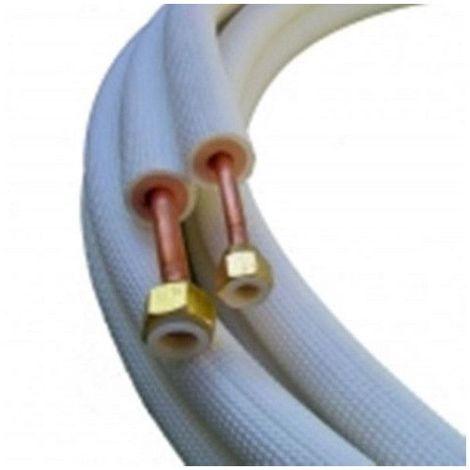 Liaison frigorifique 1/4 5/8 3 ml Bi tube isolé