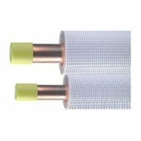 """Liaisons frigorifiques double tube LAPONIA isolées M1 - 1/4 - 1/2"""" couronne de 20ml"""