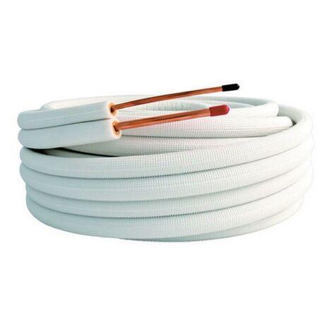 """Liaisons frigorifiques double tube LAPONIA isolées M1 - Bi-tube 1/4 - 3/8"""" couronne de 20ml"""
