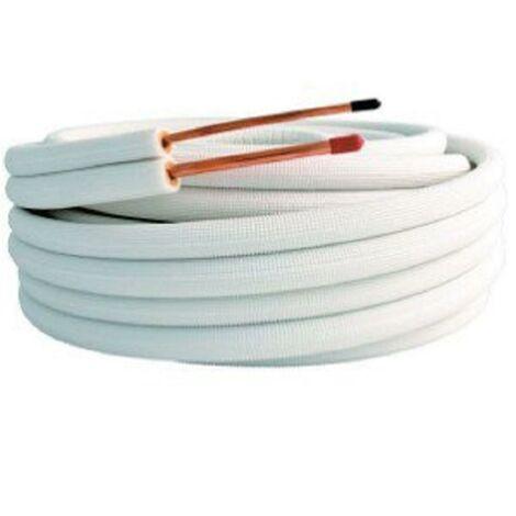 Liaisons frigorifiques pré-isolées - Bi-tube 3/8 - 5/8 - M1 - 20ml