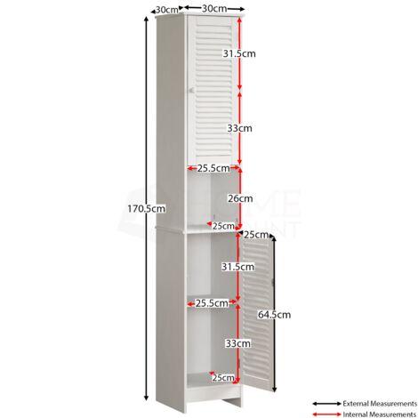 Liano 2 Door Tall Cabinet