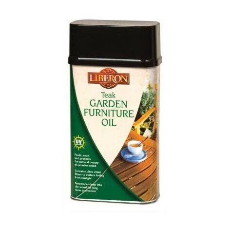 Liberon 1L Teak Garden Furniture Oil Outdoor Wood Treatment