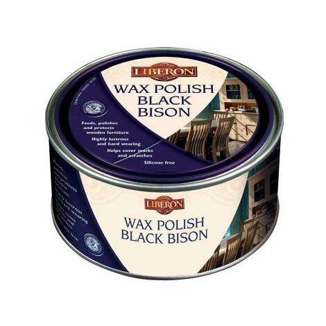 Liberon 500ml Medium Oak Wax Polish Black Bison (Paste)