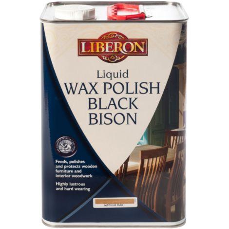Liberon Black Bison Liquid Wax 5L - Medium Oak